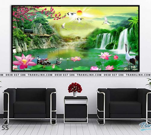 tranh in canvas phong canh phong thuy pt0155