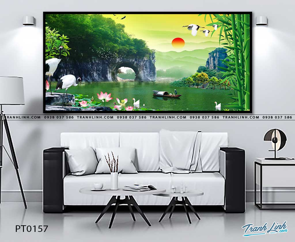tranh in canvas phong canh phong thuy pt0157