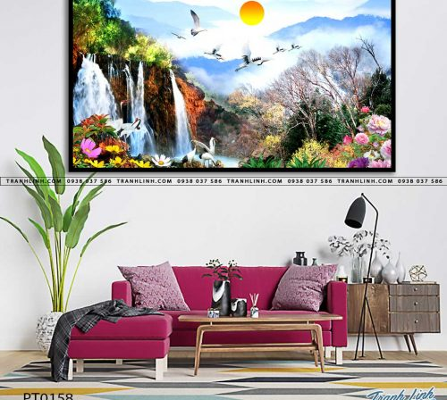 tranh in canvas phong canh phong thuy pt0158