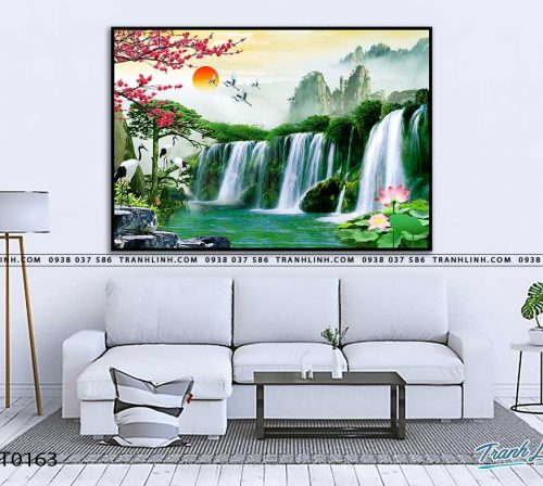 tranh in canvas phong canh phong thuy pt0163