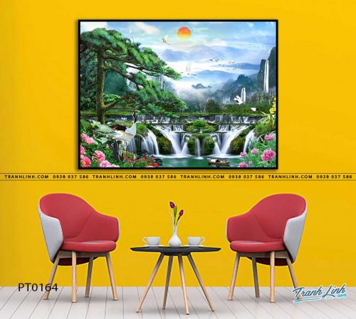 tranh in canvas phong canh phong thuy pt0164