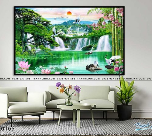 tranh in canvas phong canh phong thuy pt0165