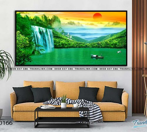 tranh in canvas phong canh phong thuy pt0166