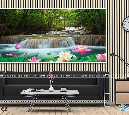 tranh in canvas phong canh phong thuy pt0168
