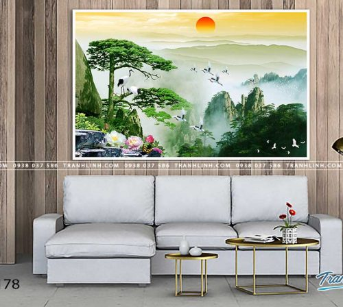 tranh in canvas phong canh phong thuy pt0178