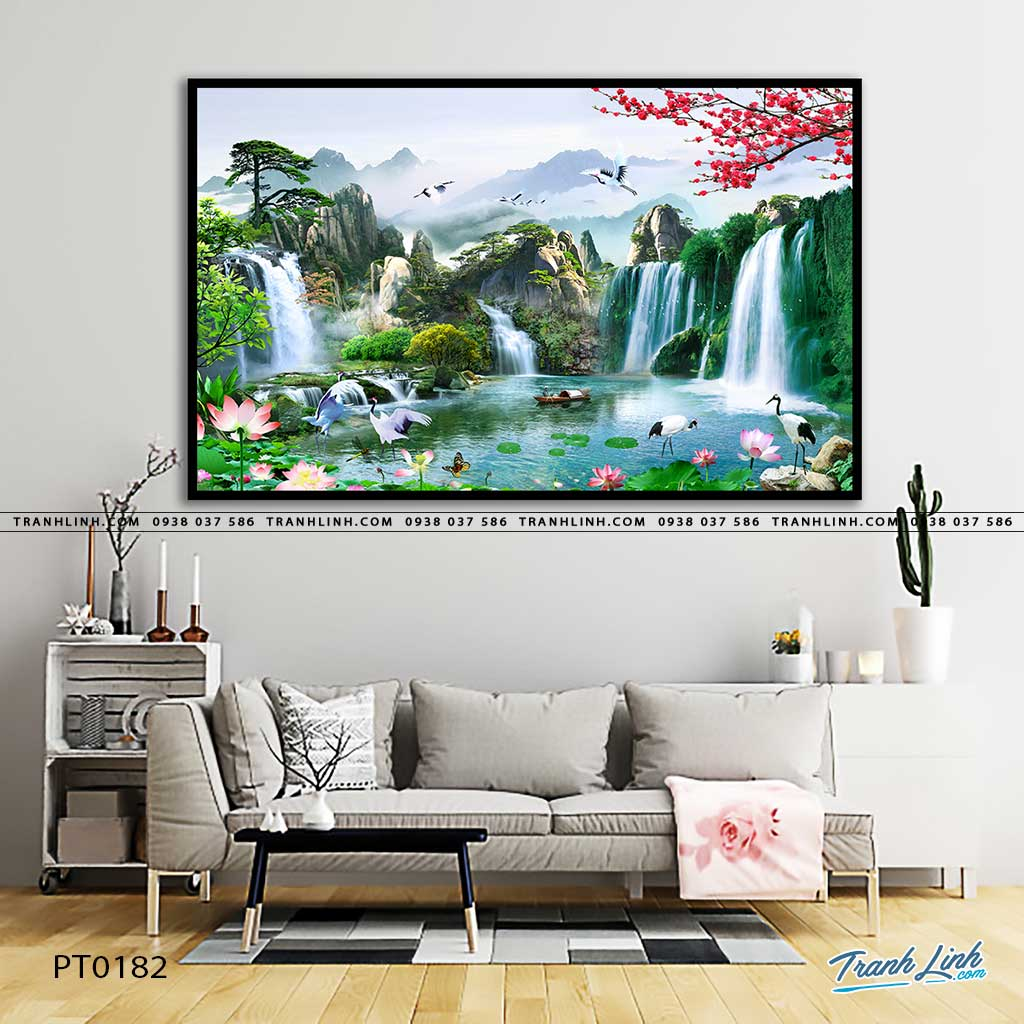 tranh in canvas phong canh phong thuy pt0182