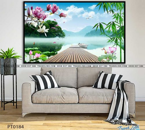 tranh in canvas phong canh phong thuy pt0184