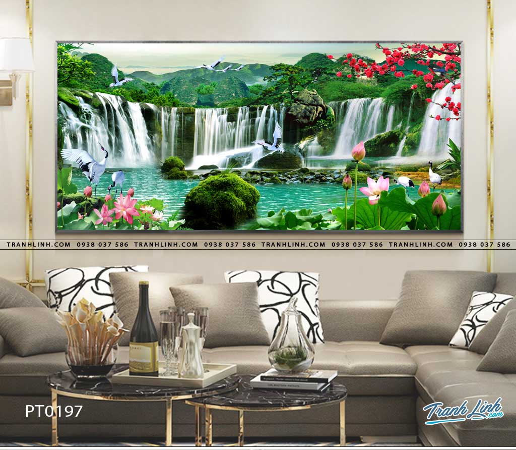 tranh in canvas phong canh phong thuy pt0197