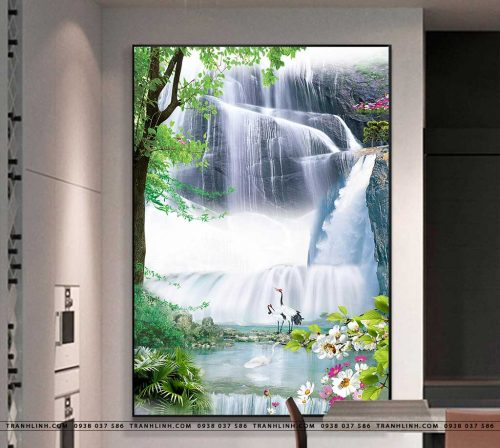 tranh in canvas phong canh phong thuy pt0200