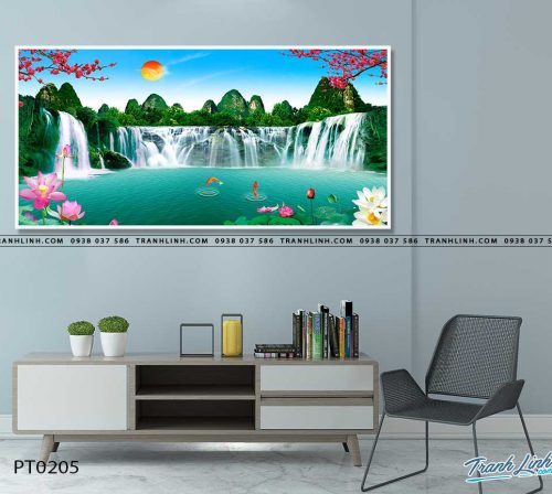 tranh in canvas phong canh phong thuy pt0205