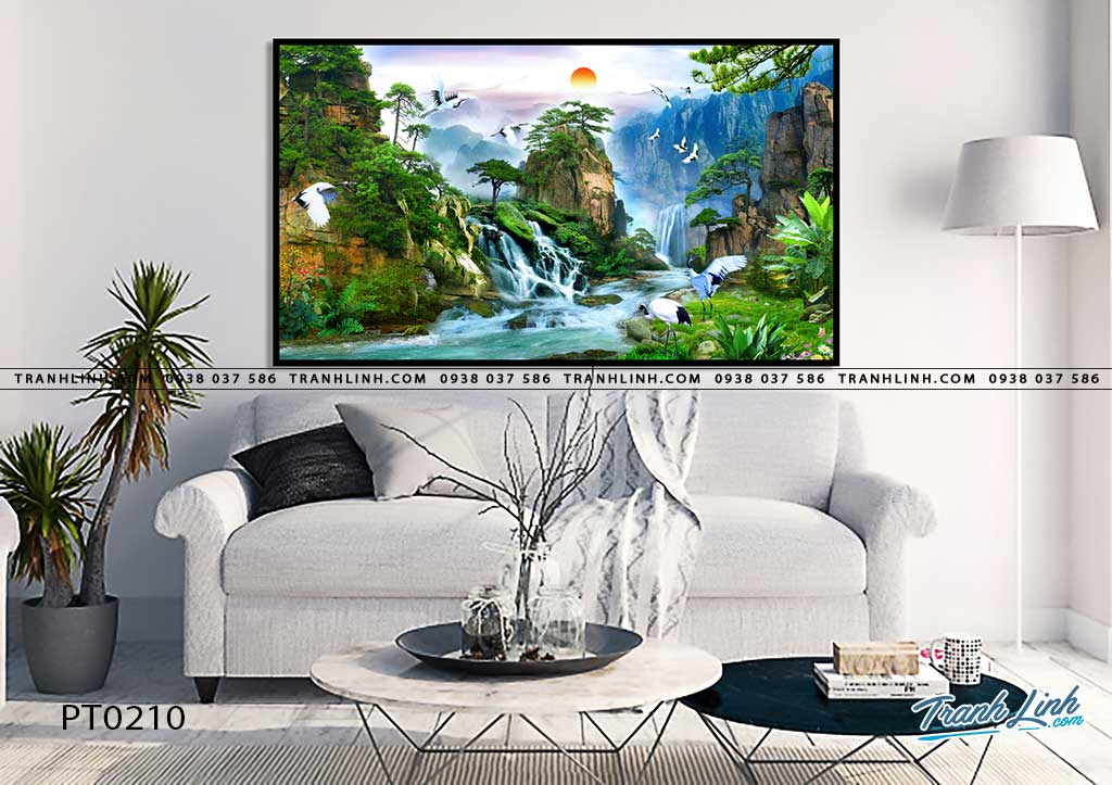 tranh in canvas phong canh phong thuy pt0210