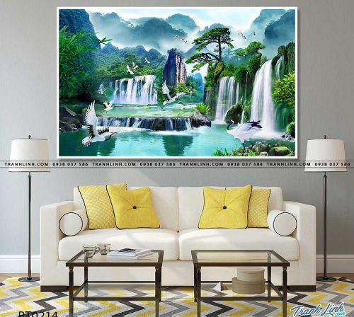 tranh in canvas phong canh phong thuy pt0214
