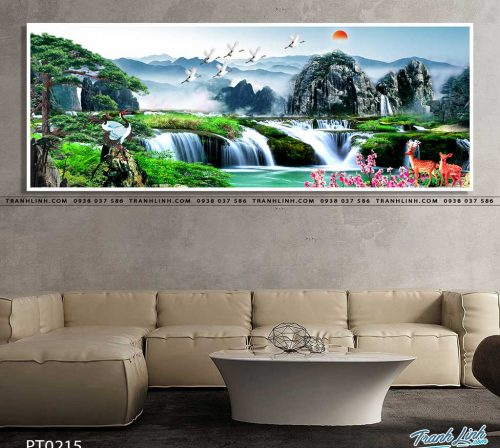 tranh in canvas phong canh phong thuy pt0215
