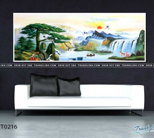 tranh in canvas phong canh phong thuy pt0216