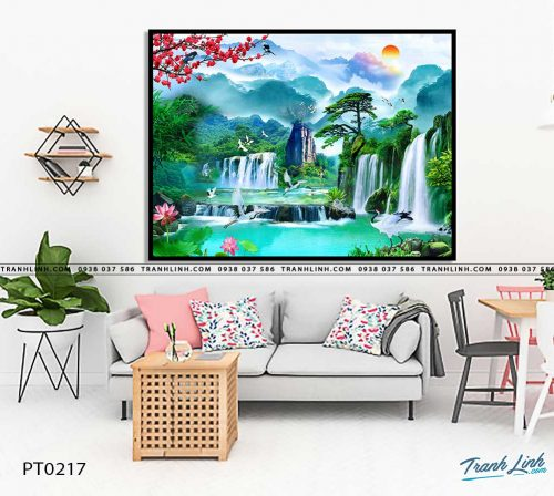 tranh in canvas phong canh phong thuy pt0217