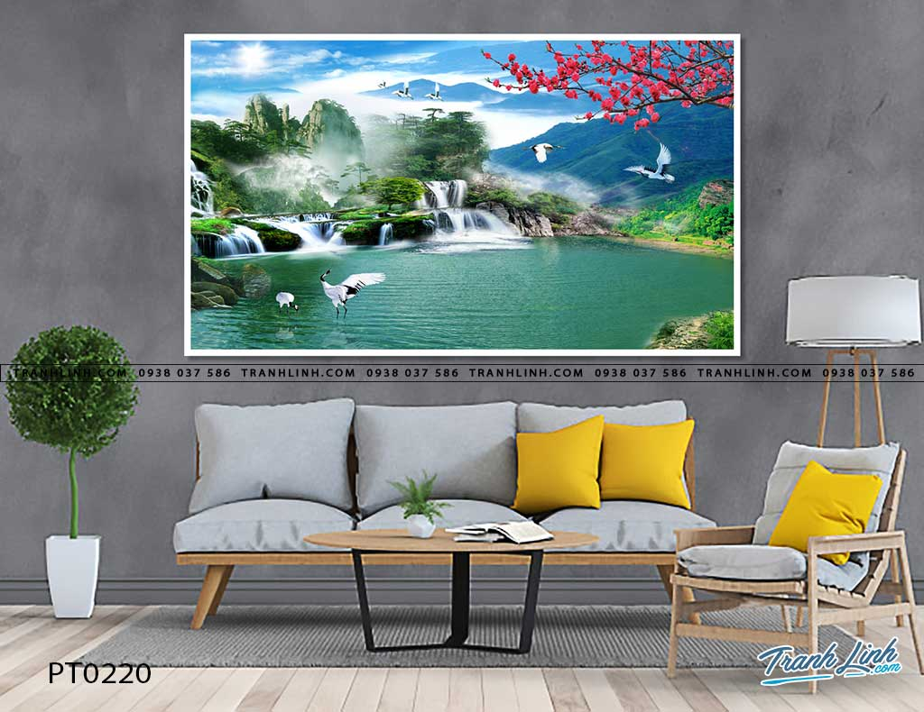 tranh in canvas phong canh phong thuy pt0220