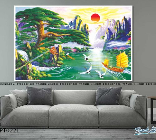 tranh in canvas phong canh phong thuy pt0221