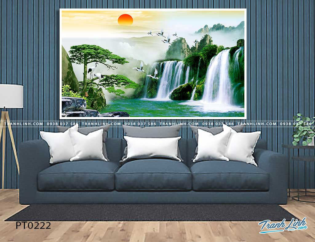 tranh in canvas phong canh phong thuy pt0222