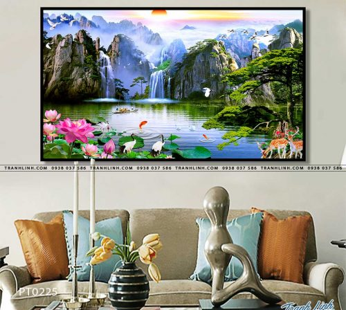 tranh in canvas phong canh phong thuy pt0225