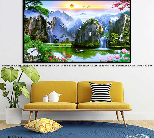 tranh in canvas phong canh phong thuy pt0231