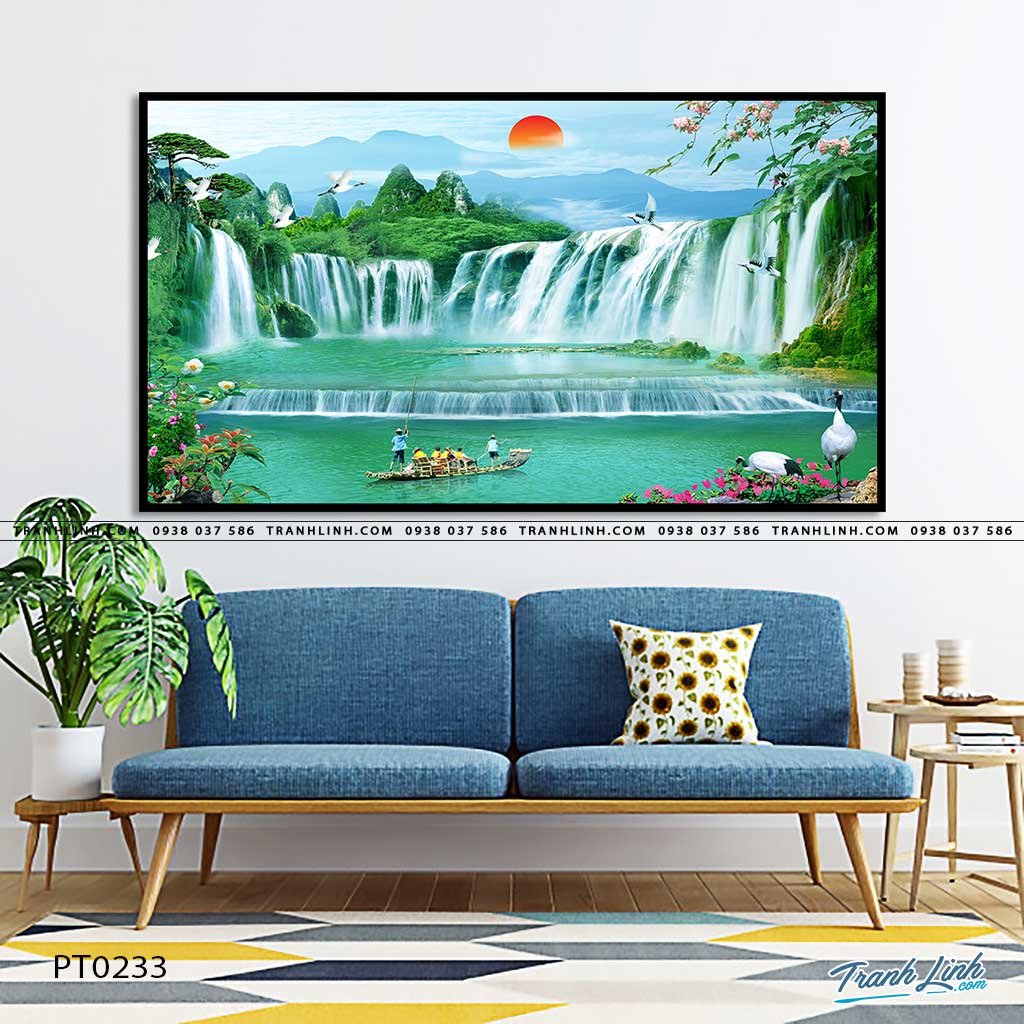 tranh in canvas phong canh phong thuy pt0233