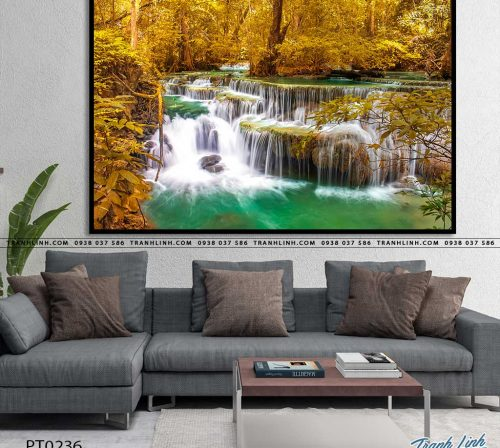 tranh in canvas phong canh phong thuy pt0236