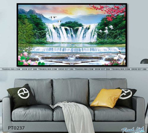 tranh in canvas phong canh phong thuy pt0237