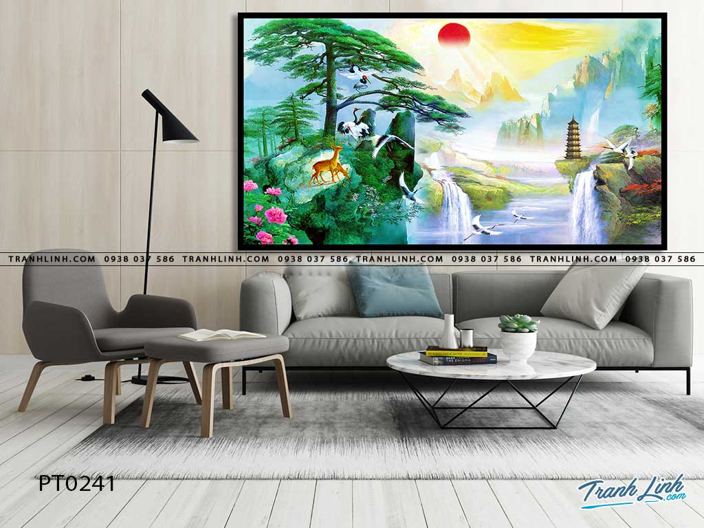 tranh in canvas phong canh phong thuy pt0241