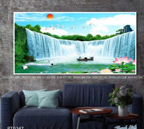 tranh in canvas phong canh phong thuy pt0247