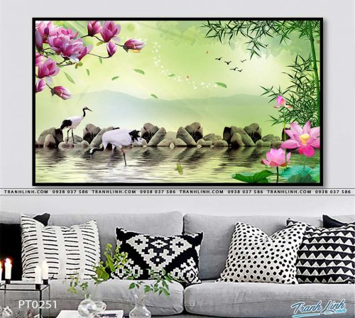 tranh in canvas phong canh phong thuy pt0251