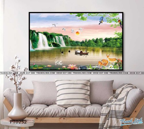tranh in canvas phong canh phong thuy pt0252