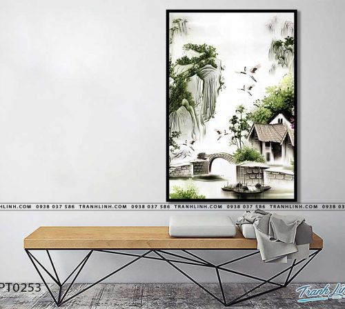tranh in canvas phong canh phong thuy pt0253