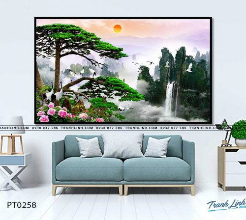 tranh in canvas phong canh phong thuy pt0258