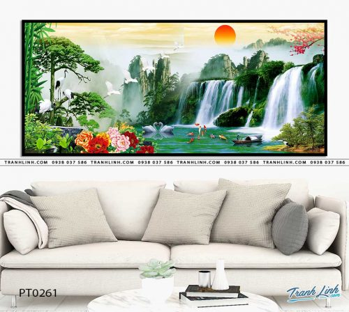tranh in canvas phong canh phong thuy pt0261