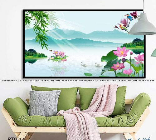 tranh in canvas phong canh phong thuy pt0265