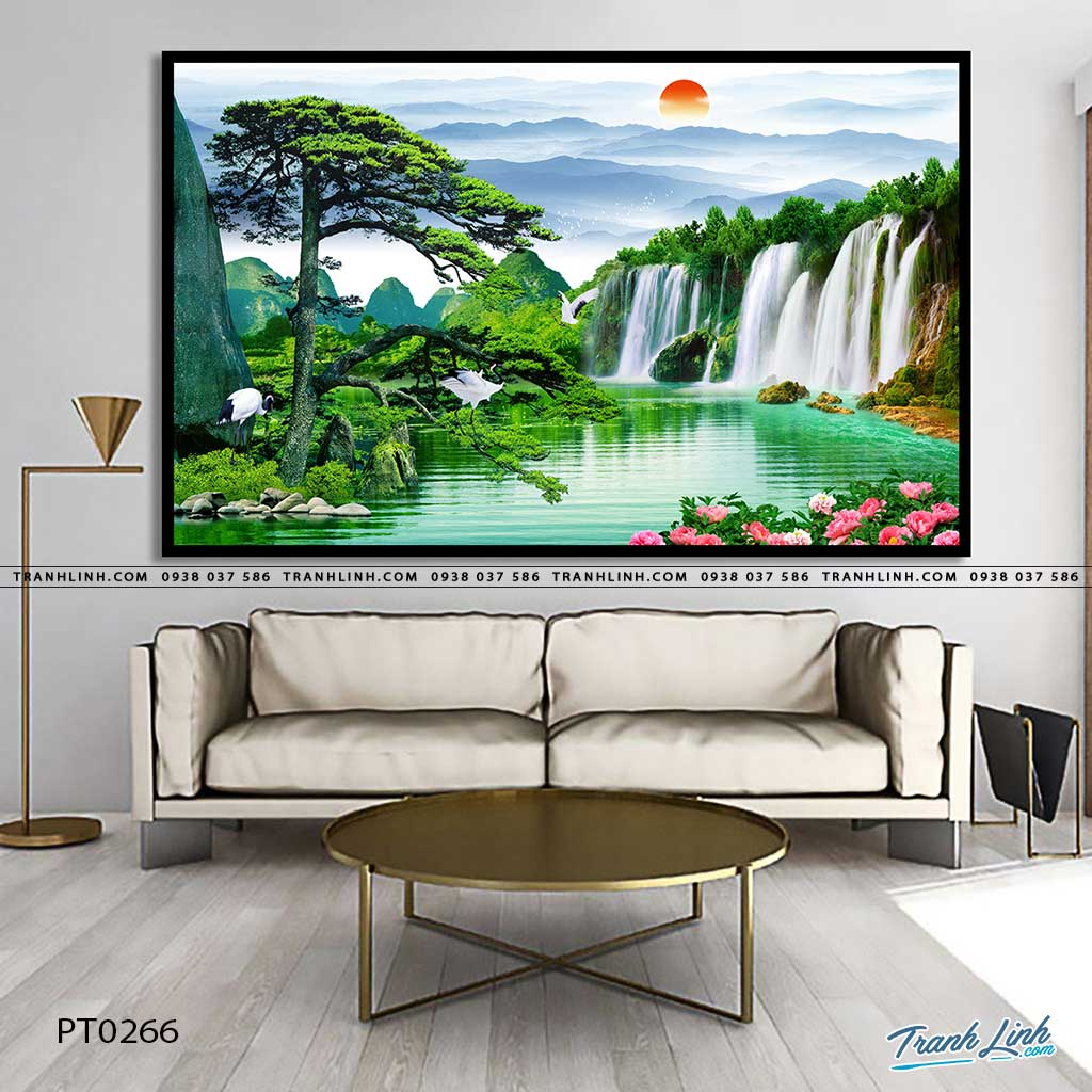 tranh in canvas phong canh phong thuy pt0266