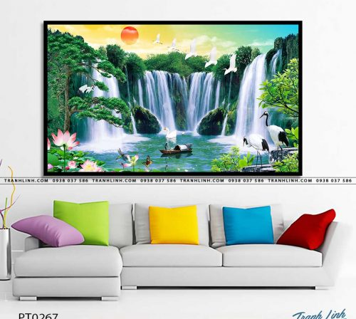 tranh in canvas phong canh phong thuy pt0267