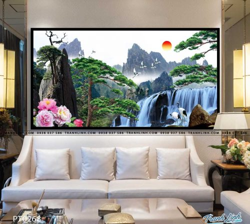 tranh in canvas phong canh phong thuy pt0268