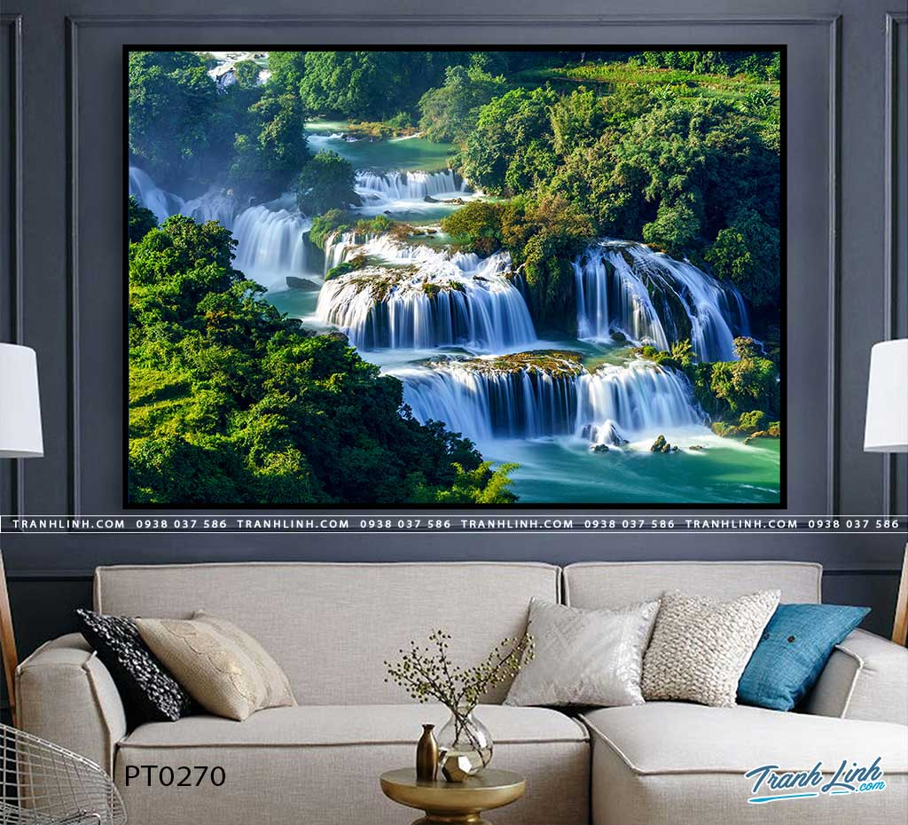 tranh in canvas phong canh phong thuy pt0270