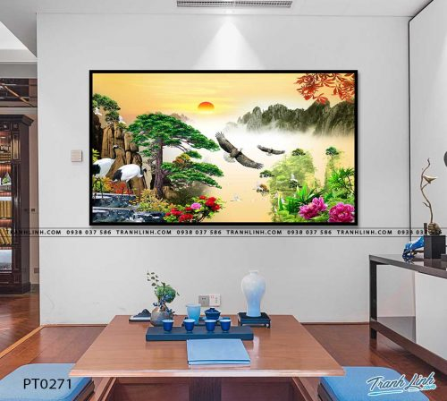 tranh in canvas phong canh phong thuy pt0271