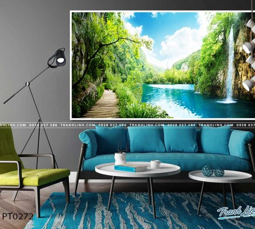 tranh in canvas phong canh phong thuy pt0272