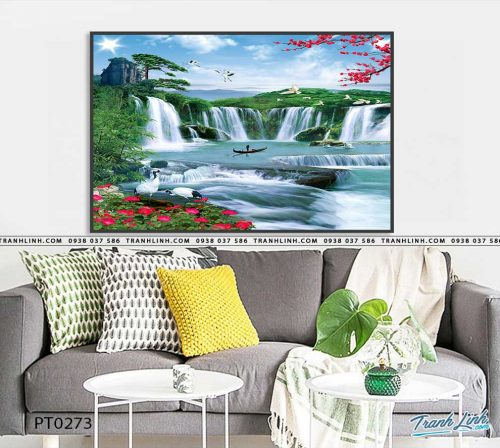 tranh in canvas phong canh phong thuy pt0273