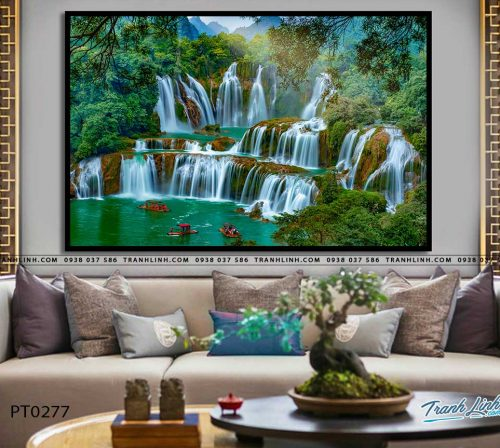 tranh in canvas phong canh phong thuy pt0277