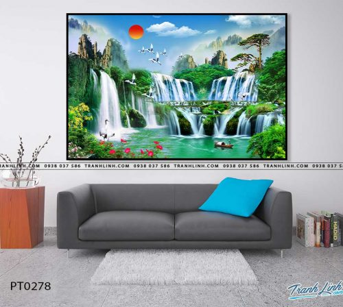 tranh in canvas phong canh phong thuy pt0278
