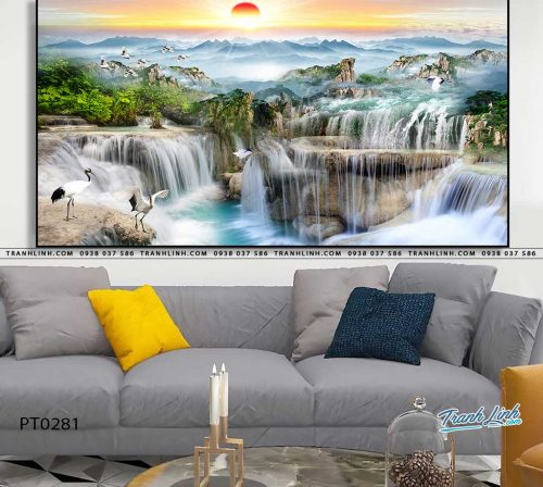 tranh in canvas phong canh phong thuy pt0281