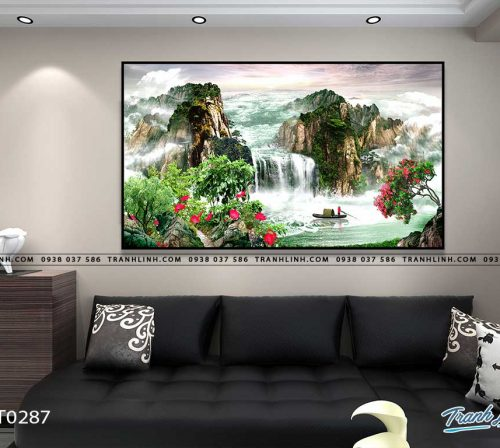 tranh in canvas phong canh phong thuy pt0287