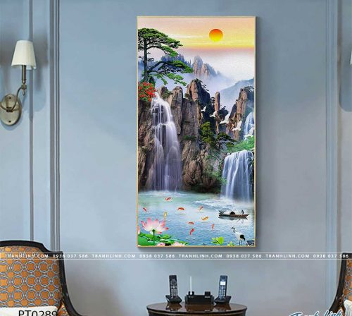 tranh in canvas phong canh phong thuy pt0289
