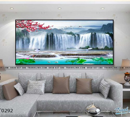 tranh in canvas phong canh phong thuy pt0292
