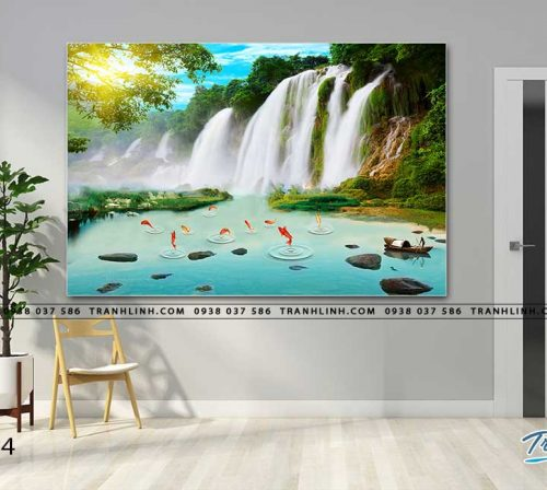 tranh in canvas phong canh phong thuy pt0294