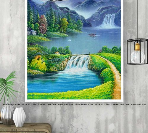 tranh in canvas phong canh phong thuy pt0298
